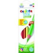 Creioane colorate CARIOCA Tita Maxi hexagonale 6 culori-cutie