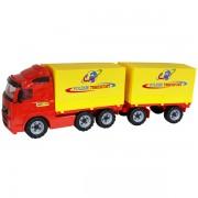 Camion cu remorca + prelata - Volvo PowerTruck, 77x19x25 cm