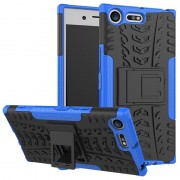 Capa Híbrida Antiderrapante para Sony Xperia XZ Premium - Preto / Azul