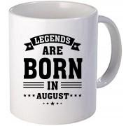 "Cana personalizata ""Legends are born in August"""