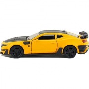 Emob 132 Die Cast Metal Body Chevrolet Camaro Pull Back Car Toy with Light and Sound Effects (Multicolor)