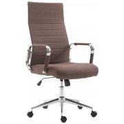 Sedia da ufficio girevole KOLUMBUS, in tessuto, marrone CLP, marrone, altezza seduta