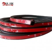 AST Works 4M D-Shaped Door Rubber Weather Seal Hollow Strip Dust-Proof Black for Car Truck