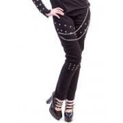 pantalon pour femmes NECESSARY EVIL - Ghotic - Noire - N1195