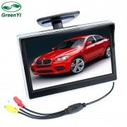 GreenYi 2 Manieren Video-ingang 5 Inch Tft-scherm 800x480 Definition Digitale Panel Kleur Parkeergelegenheid Monitor Voor achteruitrijcamera Camera