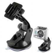 Maxy Supporto Ventosa Auto Per Gopro Hd Hero / Action Cam Black