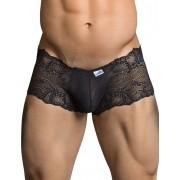 Candyman Lace Cheeky Boxer Brief Underwear Black 99296