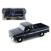 Motor Max 1966 Chevy C10 Fleet Side Pickup Truck, Dark Blue - Motormax 73355 1/24 Scale Diecast Model Toy Car