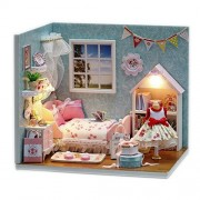 Orgrimmar Dollhouse Miniature DIY Wood Kit Dolls house with Cover and LED-Happy Little World Series