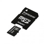 Card Transcend microSDHC 32GB Class 10 UHS-I cu adaptor SD