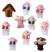 Alcoa Prime Seven Little Lambs Finger Puppets and Big Bad Wolf Story Telling Fairy Tales
