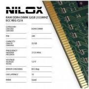 NILOX NXR322133M1C15 Ram Ddr4 32Gb 2133mHz Ecc Reg Cl15