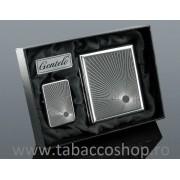 Set Gentelo Engraved4 tabachera si bricheta