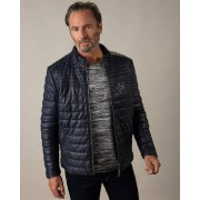 Gentlemen Selection Lederjacke in Stepp-Optik marine male 52