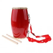 Prettyia Chinese Traditional Dragon Drums Hand Drum Kid Music Learning Percussion Musical Instrument
