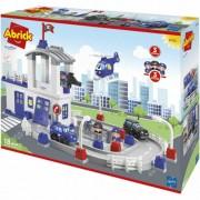 Set de constructie Ecoiffier Abrick Statia de Politie cu Drum Auto