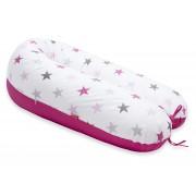 Perna Scamp 3 in 1 pentru gravide, alaptat, bebelusi, 160 cm, Pink Sky
