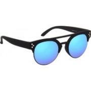 Hrinkar Clubmaster Sunglasses(Blue, Green)