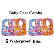 Baby Bibs Multi Color Printed- Pack of 6 CODEwM-2069