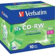 Verbatim CD-RW 700Mb 8-12X Hi-Speed Pack of 10