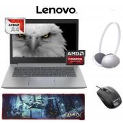 "Laptop Lenovo Ideapad 330 14"" 4 GB RAM + 500 GB AMD A4 W10 + Audifonos, mouse y mousepad"