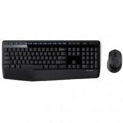 Комплект клавиатура и мишка Logitech MK345, безжични, оптична (1000 dpi), USB, до 10м обхват, черни