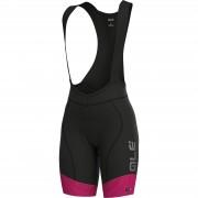 Alé Women's PRS Master Bib Shorts - L - Prune/Fluo Pink