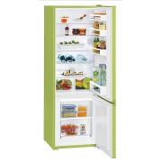 Combina frigorifica Liebherr CUkw 2831, 265 L, SmartFrost, Control mecanic, 2 sertare legume, Raft sticle, H 161.2 cm, A++, Kiwi green