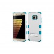 Funda Protector Triple Layer Uso Rudo Samsung Galaxy Note 7 Blanco - Aqua C/pie Metalico