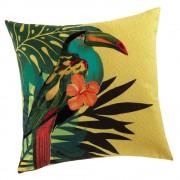 Maisons du Monde TOUCAN cushion in yellow 45 x 45cm