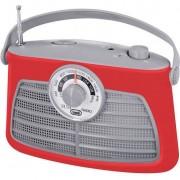 Radio cu ceas trevi RA 763 rosu