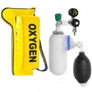 portabombola oxypack2 con bombola da 2lt. , riduttore di pressione, pa