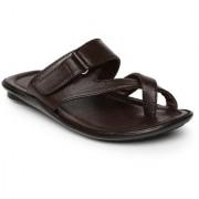 Paragon-Vertex Plus Men's Brown Slippers
