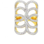 Tistabene Retails Contemporary American Diamond Designer Stylish Party Wear Cocktail Ring For Women And Girls (RI-0242)