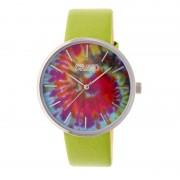 Crayo Swirl Strap Watch - Silver/Green CRACR4201