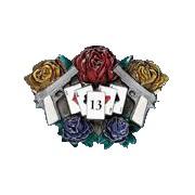 Hebilla roses & guns