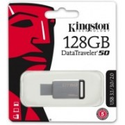 Kingstone DT50 128 GB Pen Drive(Grey)