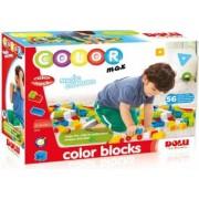 Cuburi colorate de construit DOLU 56 piese Multicolor
