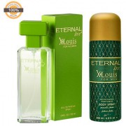 Eternal Love Eau De Parfum Xlouis Women 120ml + Eternal Love Body Spray Xlouis Men 200ml