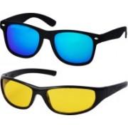 Freny Exim Sports, Wayfarer Sunglasses(Blue, Yellow)