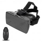 """Gafas VR 3D con control Bluetooth para 4 ~ 6.5"""" Telefono - Negro"""