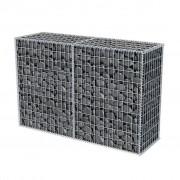 vidaXL Gabion mand 150x50x100 cm gegalvaniseerd staal