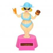 Geen Dansende roze dikke dame beeldje solar figuur - Action products