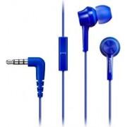 Panasonic Rp-Tcm115e-A Cuffie Auricolari Con Microfono E Tasto Di Risposta Jack 3.5 Mm Colore Blu - Rp-Tcm115e-A