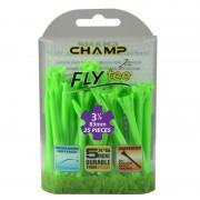 Champ Zarma FLYTee Golf Tees 3 1/4 (83 mm) Lime Green-25 Pack