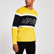 Levi's Mens Levi's Yellow block logo sweatshirt (L)