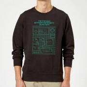Nintendo Sudadera Nintendo NES Mando Cianotipo - Hombre - Negro - S - Negro