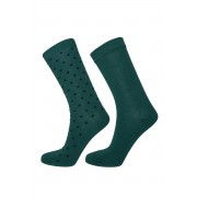 Gant Ponožky Gant O1. 2-Pack Solid And Dot Socks zelená