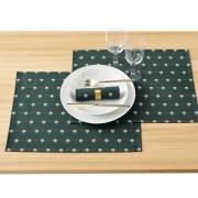 LA REDOUTE INTERIEURS 2er-Set bedruckte Tisch-Sets Mina mit Fleckenschutz