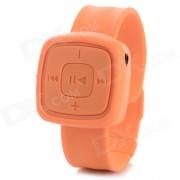 Mini estilo reloj de pulsera MP3 reproductor de musica con ranura para tarjeta TF - naranja